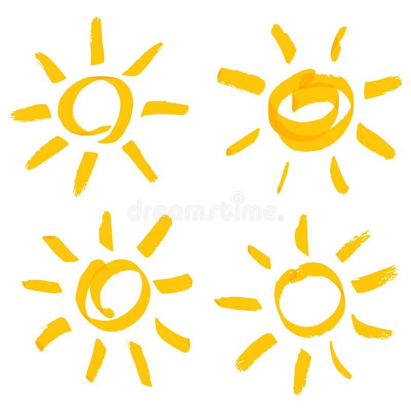 Positionnement de Sun illustration de vecteur