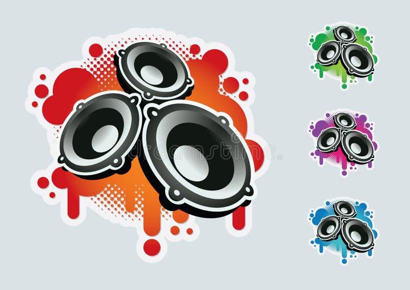 Positionnement de symbole de haut-parleur. illustration stock