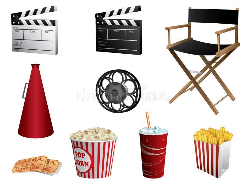 Positionnement de symboles de cinéma illustration stock