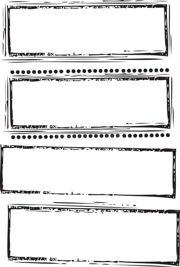 Positionnement de tampon en caoutchouc illustration libre de droits