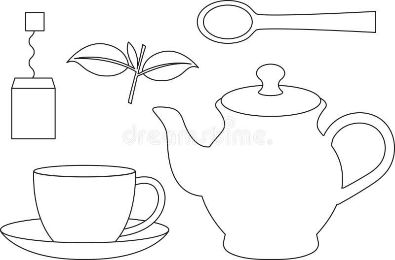 Positionnement de thé illustration stock
