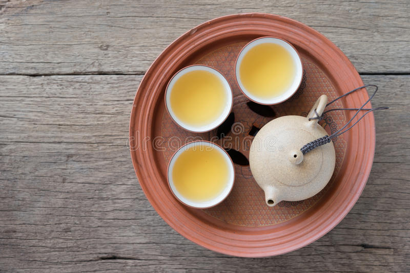 Positionnement de thé chinois photo libre de droits