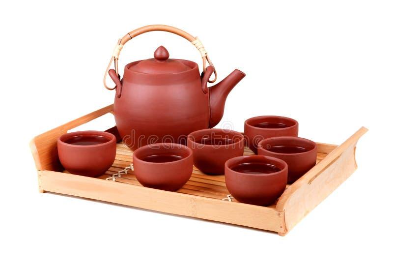 Positionnement de thé d'argile images libres de droits
