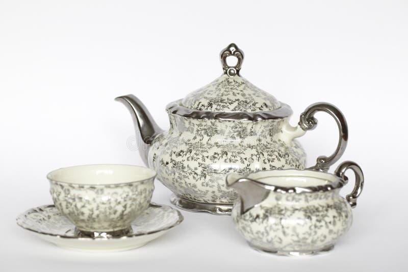 Positionnement de thé de porcelaine photo libre de droits