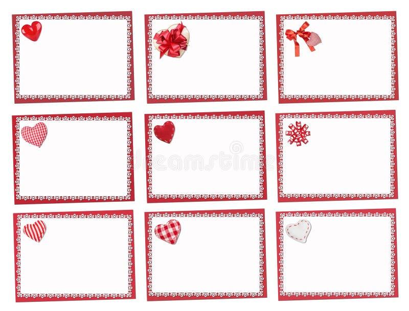 positionnement de vacances de cartes St Jour de Valentines illustration libre de droits