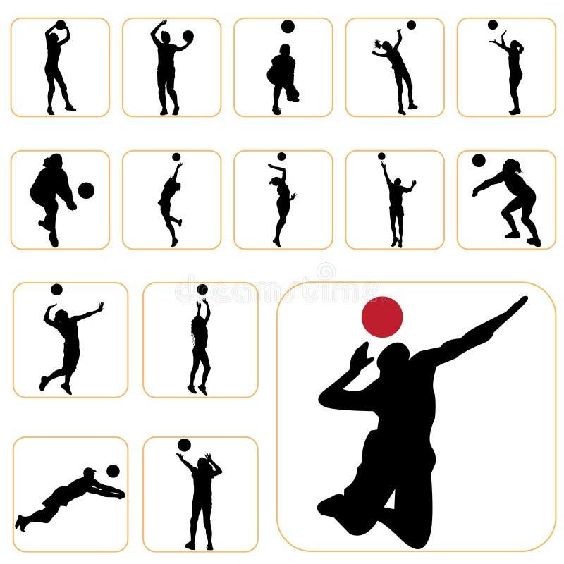 Positionnement de volleyball illustration de vecteur