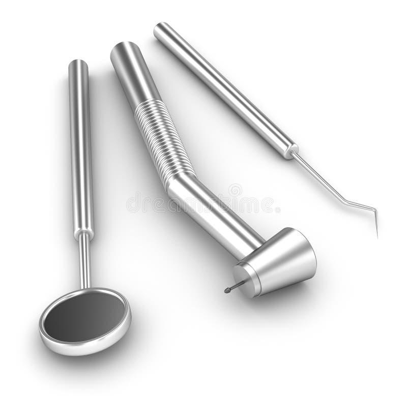 Positionnement dentaire miroir sonde et foret for Miroir dentaire
