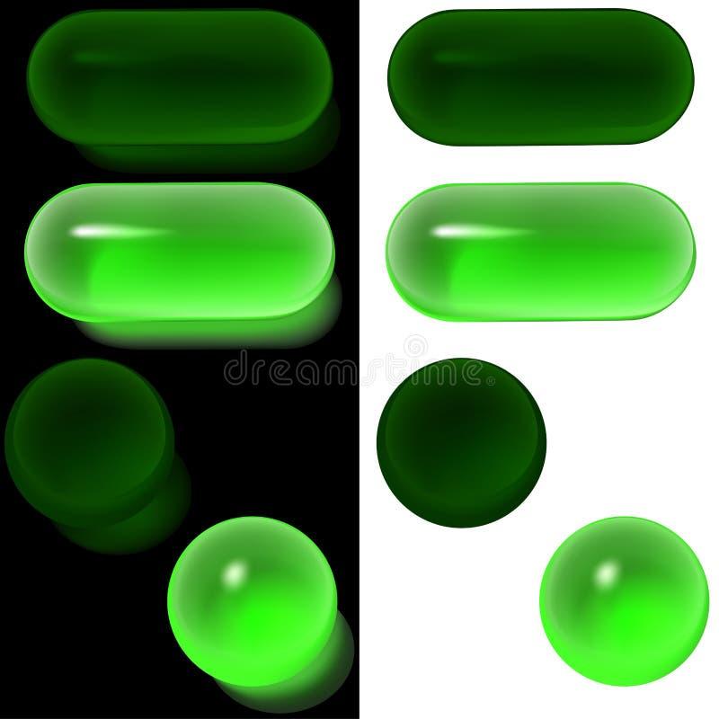 Positionnement des boutons A2 en verre illustration libre de droits