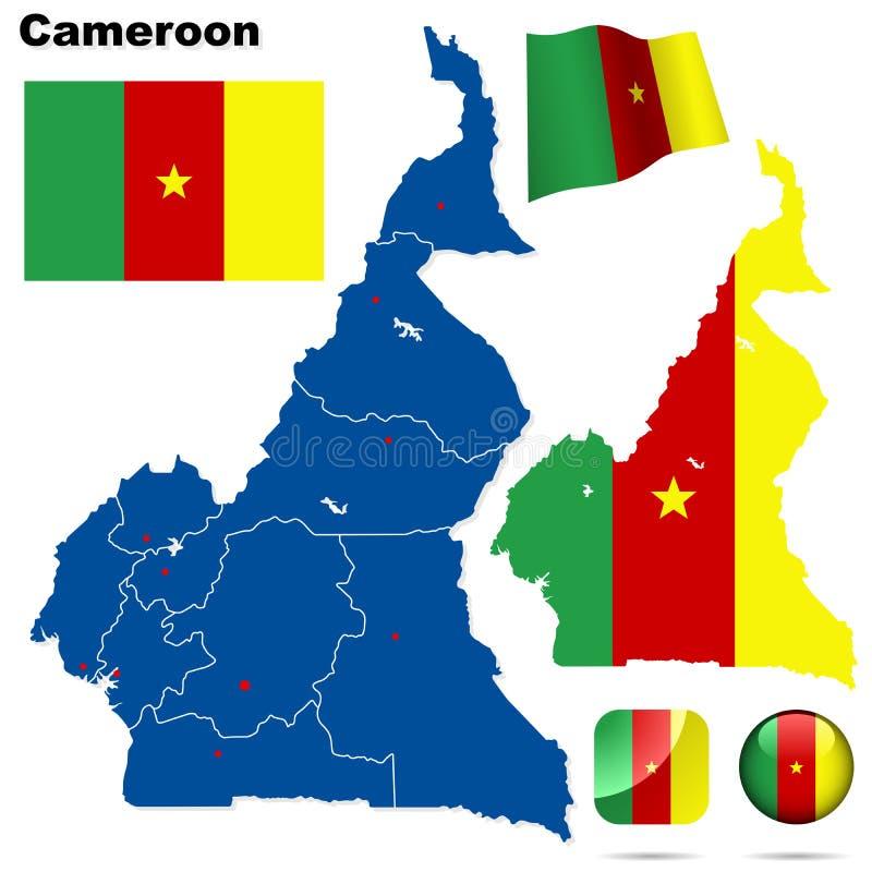 Positionnement du Cameroun. illustration libre de droits
