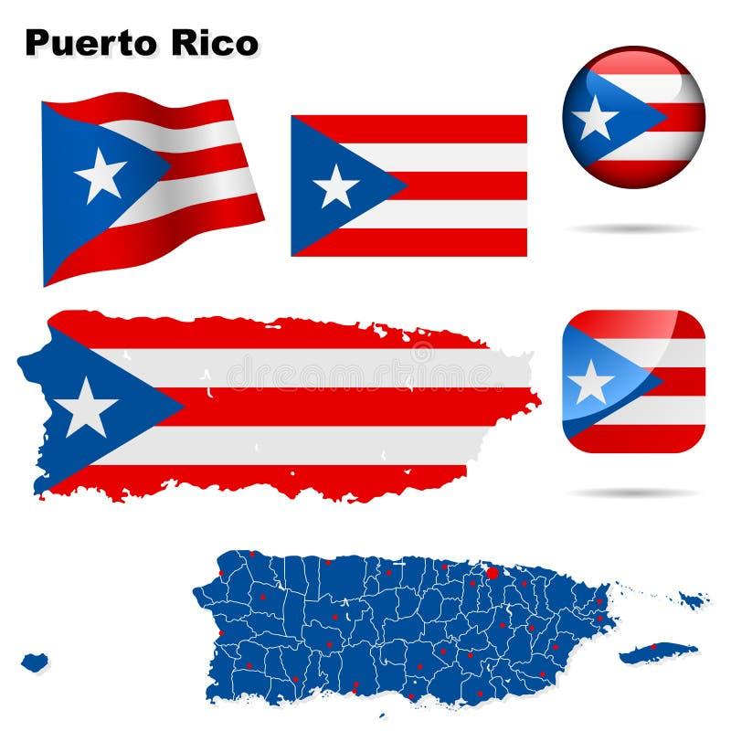 Positionnement du Porto Rico. illustration de vecteur