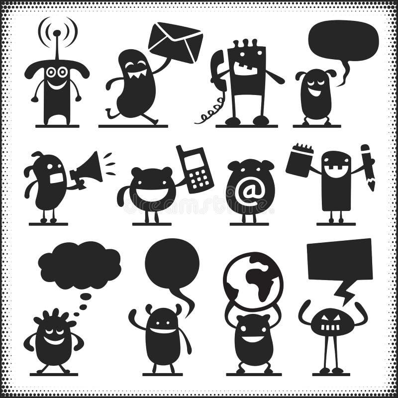 Positionnement du travail du vecteur characters illustration libre de droits