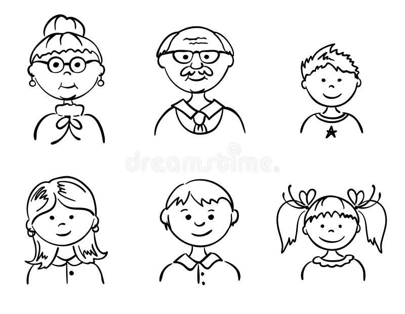 Positionnement - famille illustration de vecteur