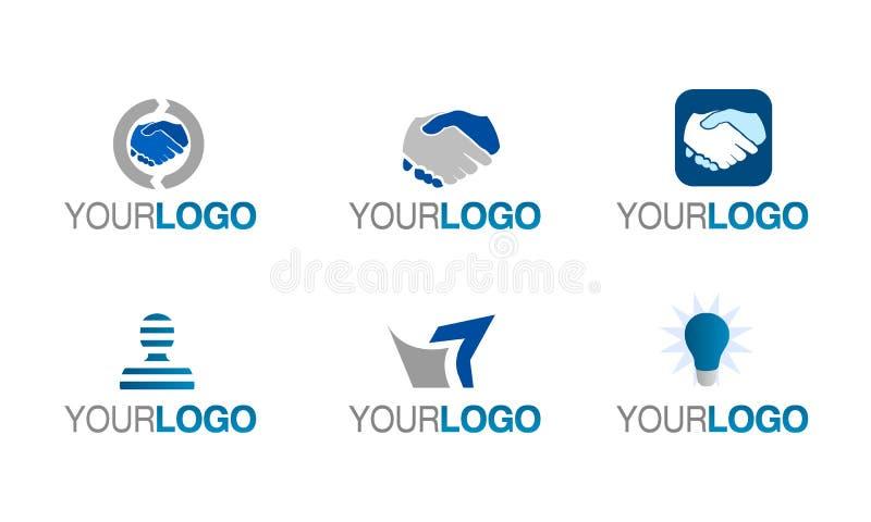 Positionnement financier de logo de confiance de vecteur illustration stock