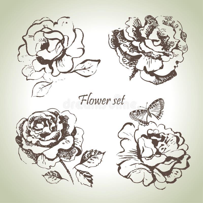 Positionnement floral illustration de vecteur