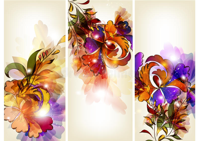 Positionnement floral de brochure illustration libre de droits