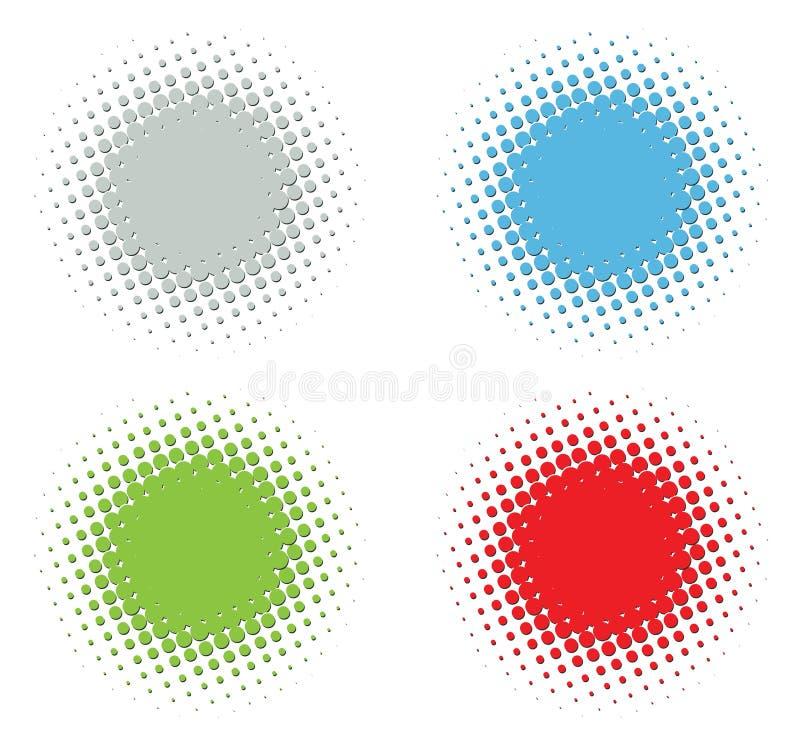 Positionnement gravé en relief d'image tramée illustration de vecteur