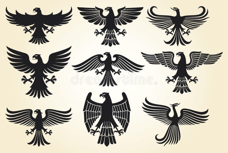 Positionnement héraldique d'aigle illustration de vecteur