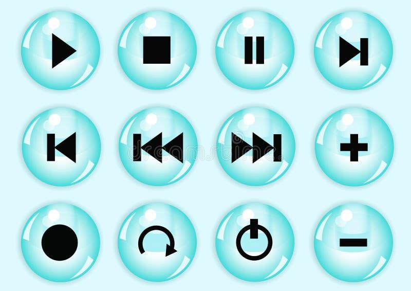 Positionnement lustré de bouton illustration stock