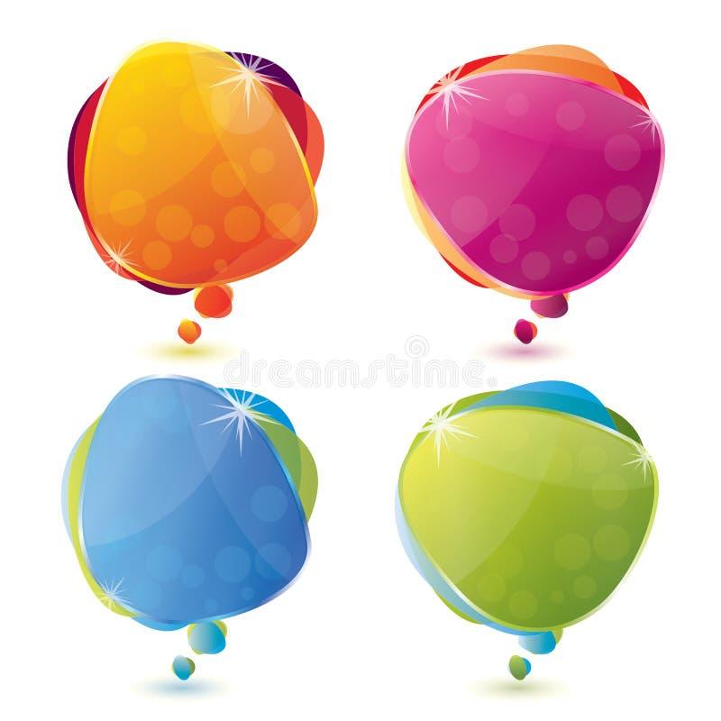 Positionnement lustré de bulle de la parole illustration stock
