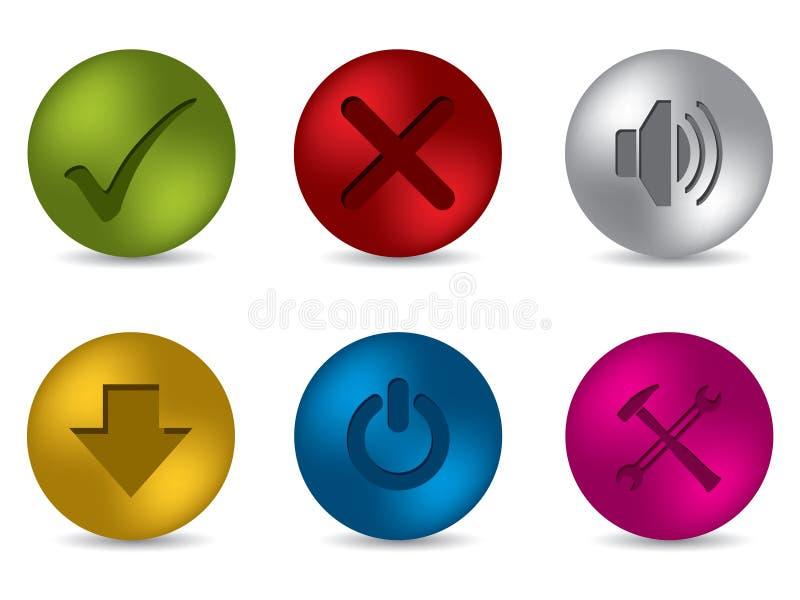Positionnement mat frais du bouton 3d illustration libre de droits