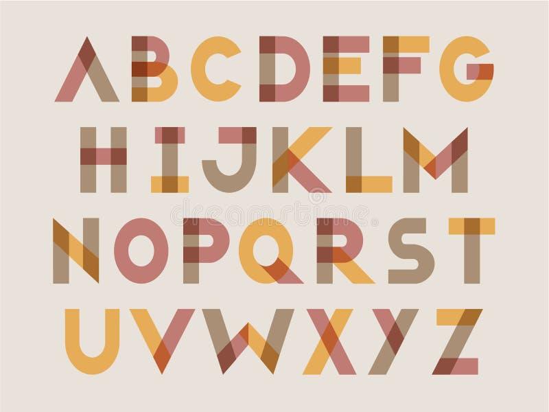 Positionnement moderne de lettre illustration stock