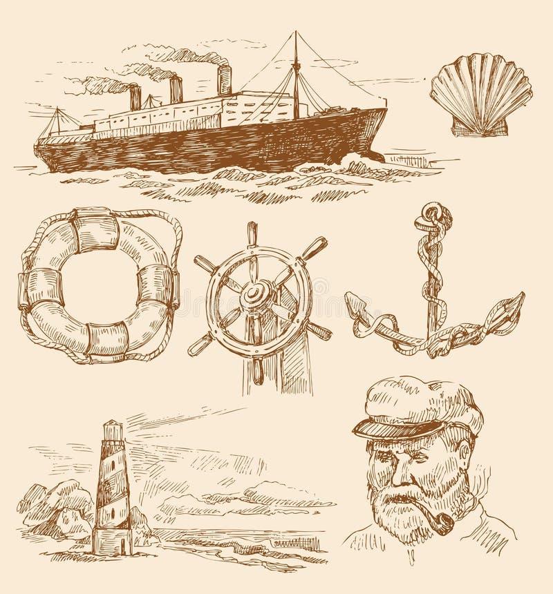 Positionnement nautique illustration stock