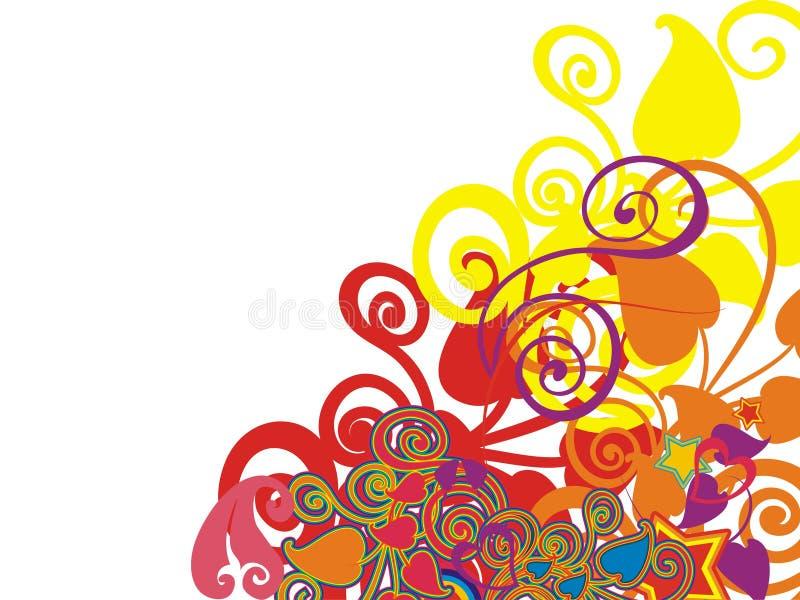 Positionnement ornemental de fleur illustration libre de droits