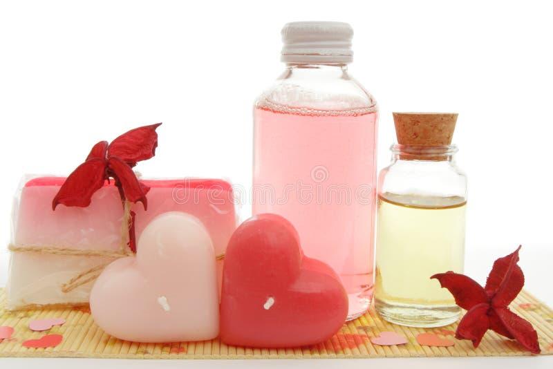 Positionnement rose de bain photos libres de droits