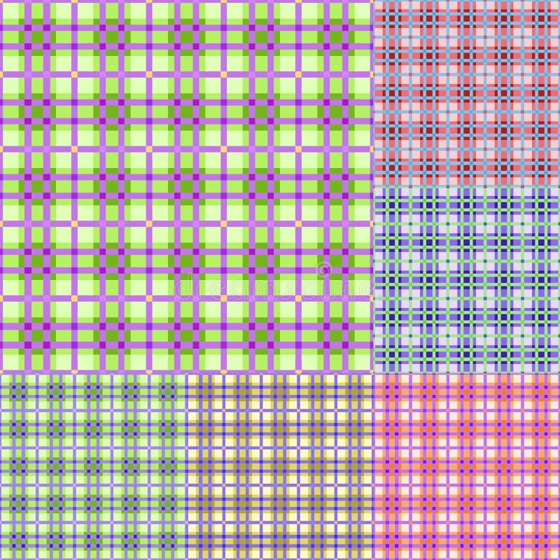 Positionnement sans joint coloré de configuration de plaid illustration de vecteur