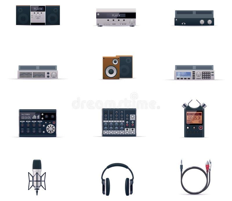 Positionnement sonore de graphisme de l'électronique de vecteur illustration de vecteur