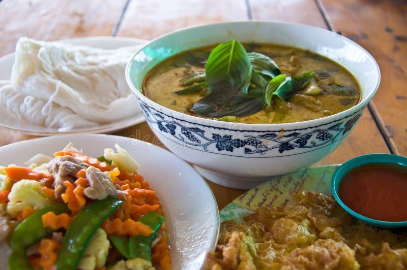 Positionnement thaï de nourriture photographie stock