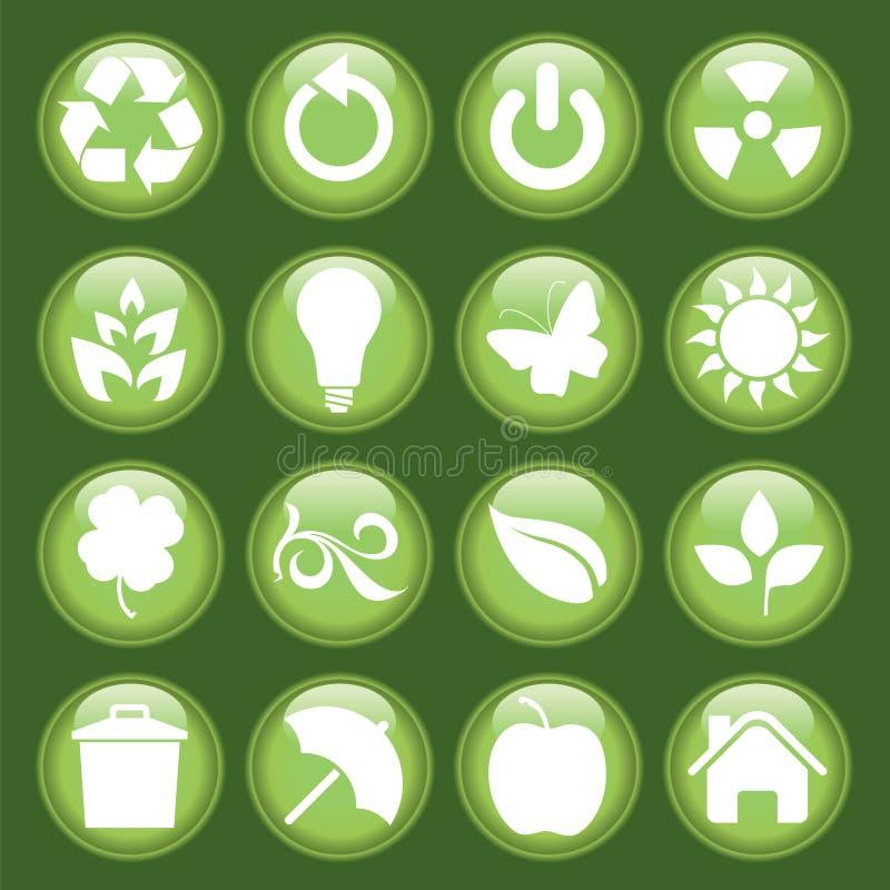 Positionnement vert de graphisme illustration libre de droits