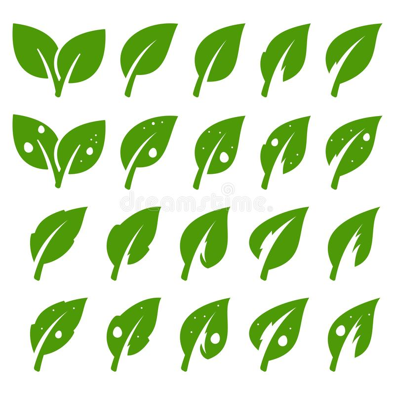 positionnement vert de lame illustration stock