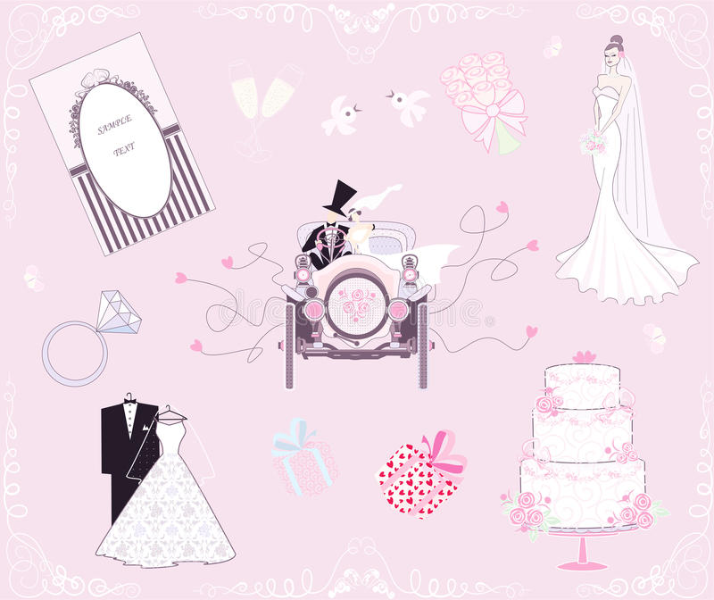 Positionnement Wedding illustration stock