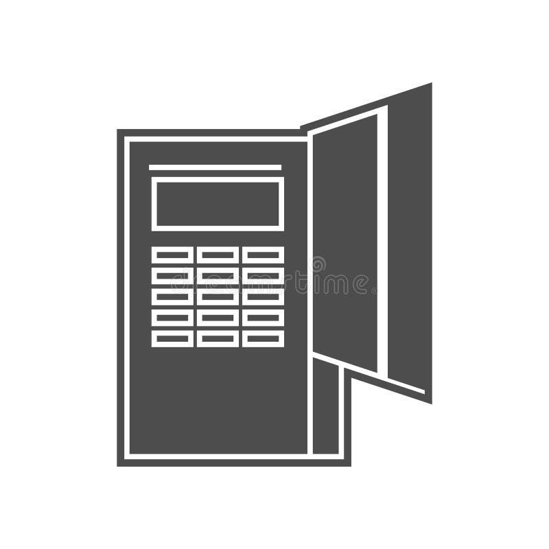 Positions-Anschlussikone Element von minimalistic f?r bewegliches Konzept und Netz Appsikone Glyph, flache Ikone f?r Websiteentwu lizenzfreie abbildung