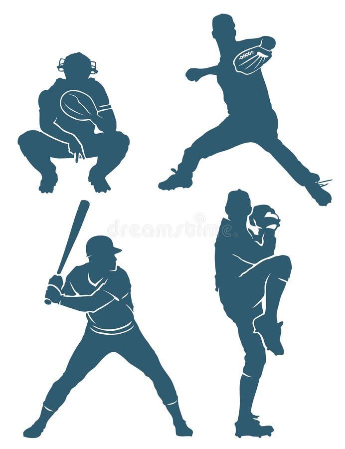Positions de base-ball illustration de vecteur