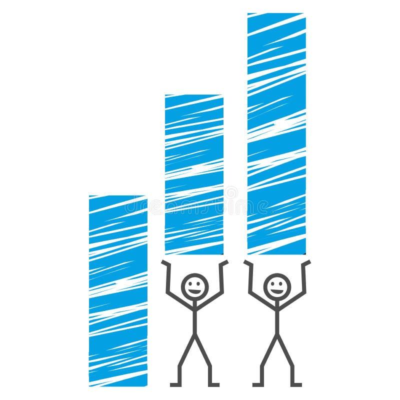 Positiv graf royaltyfri illustrationer
