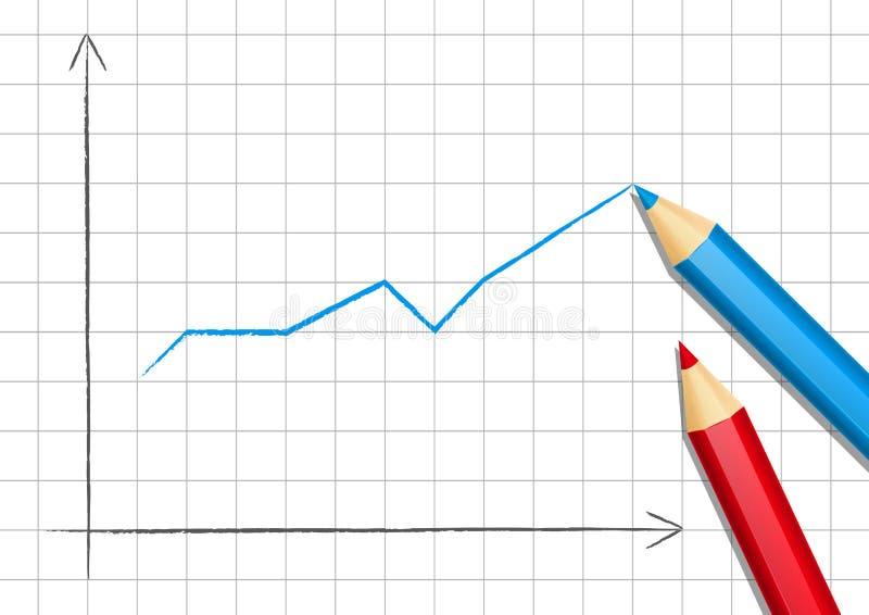 Positiv graf för din design stock illustrationer