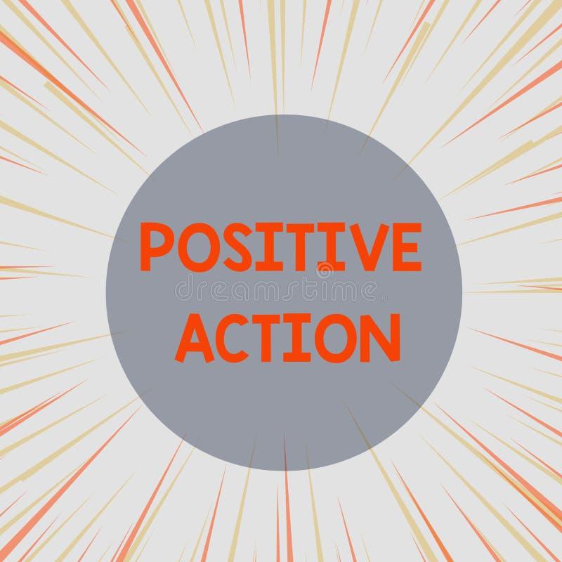 Positiv handling f?r ordhandstiltext Aff?rsid? f?r att g?ra bra inst?llning mot best?md l?gebotreaktion vektor illustrationer