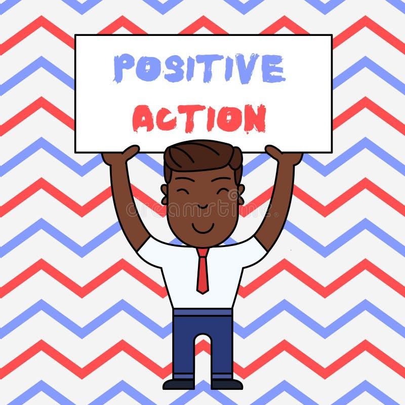 Positiv handling f?r textteckenvisning Begreppsmässigt foto som gör bra inställning mot le för reaktion för bestämt läge fint vektor illustrationer