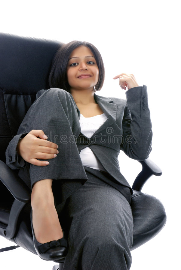 positiv kvinna för affär en arkivfoton