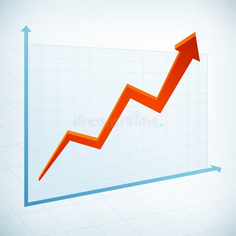 Positiv pil för affärsgraf stock illustrationer