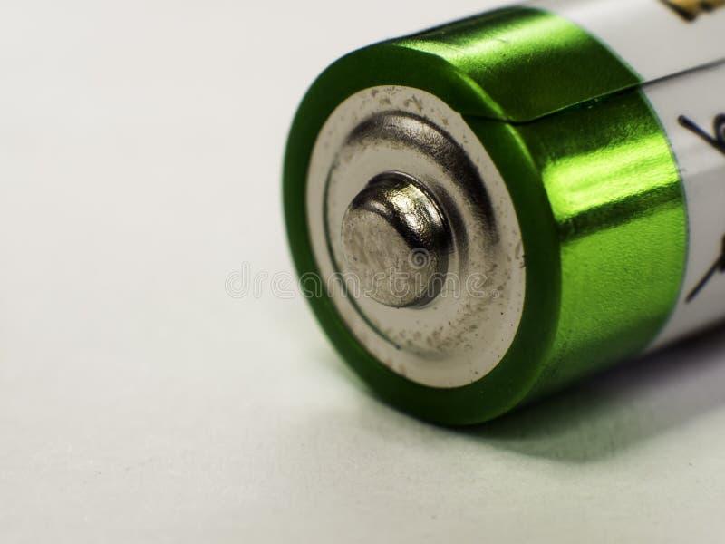 Positiv pol av motorförbundetbatterier royaltyfri fotografi