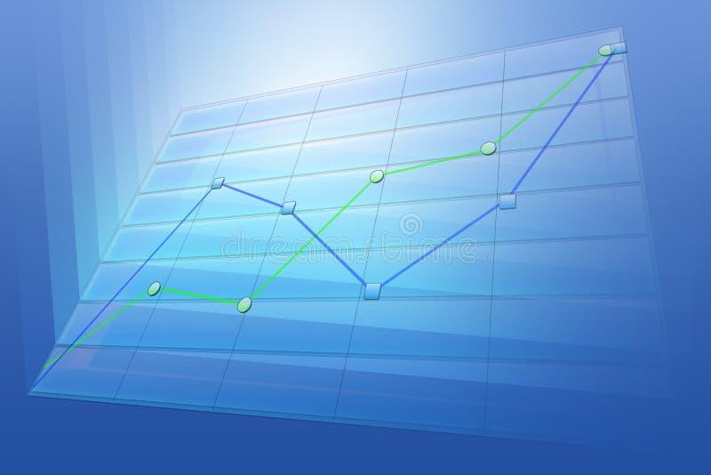 positiv trend för affärsdiagram stock illustrationer