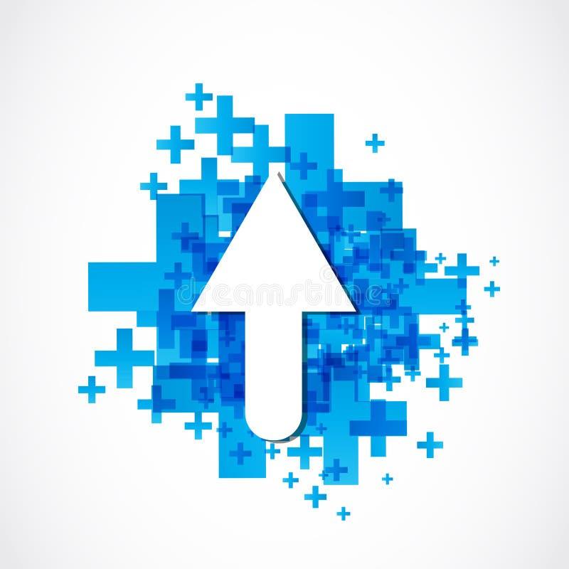 Download Positive arrow stock vector. Image of arrowhead, application - 37017450