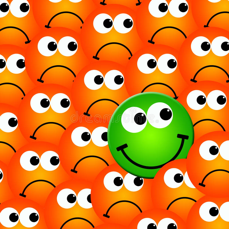 Download Positive attitude stock illustration. Image of emoticons - 17877799