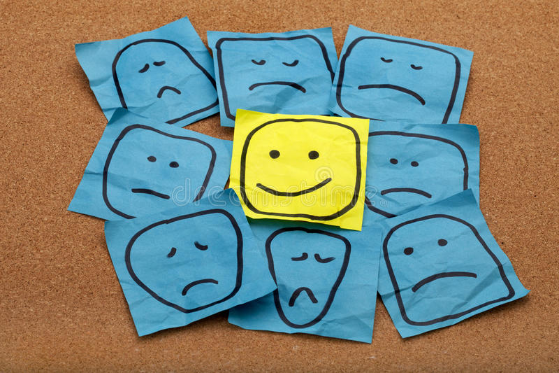 Positive attitude concept on cork board royalty free stock photography