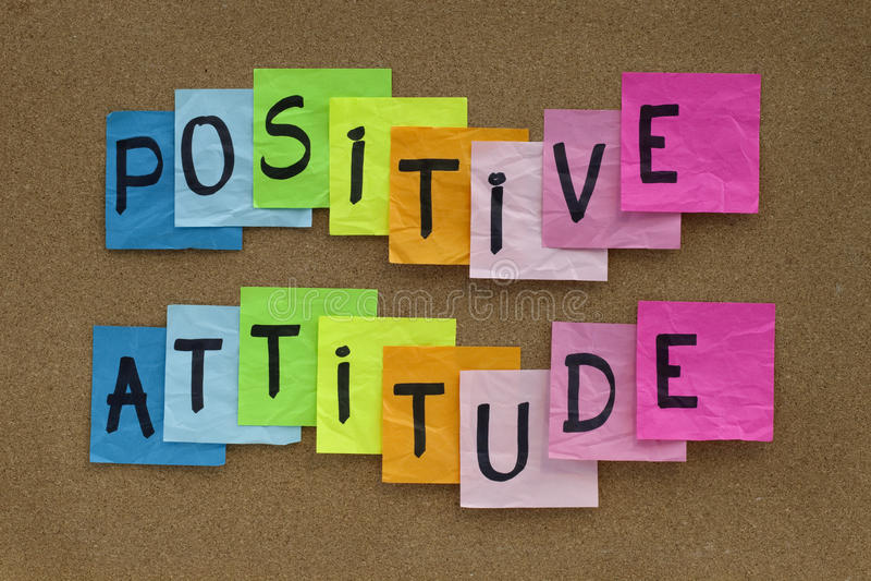 Positive Attitude Reminder Stock Photography