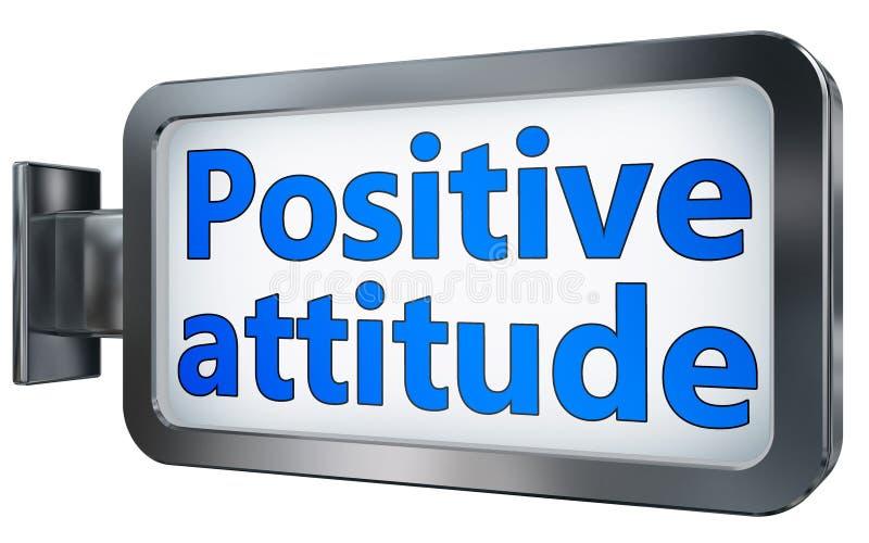 Positive attitude on billboard stock illustration