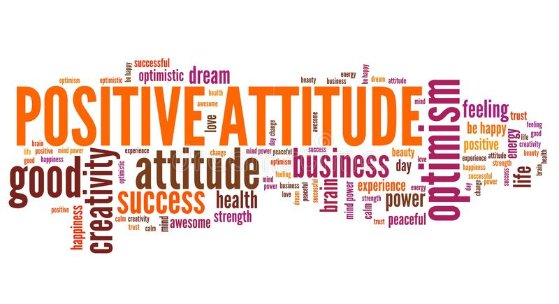 Positive attitude stock illustration